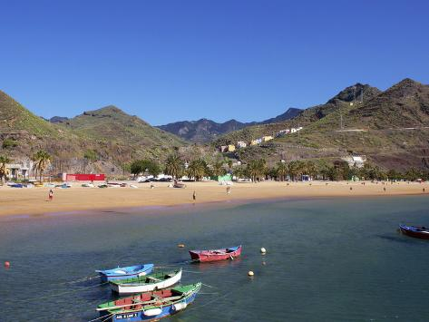 Beach, Las Teresitas, Tenerife, Canary Islands, Spain, Atlantic, Europe Otro