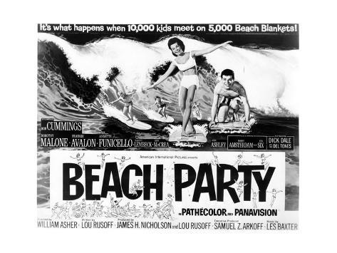 Beach Party - Lobby Card Reproduction Art Print
