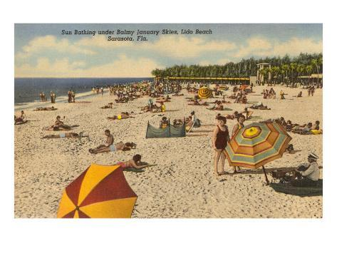 Beach, Sarasota, Florida Art Print