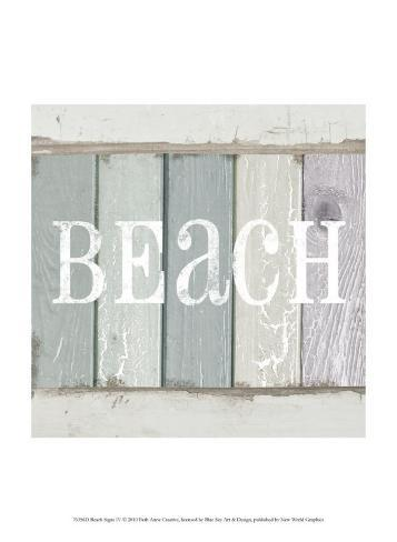 Beach Sign IV Art Print