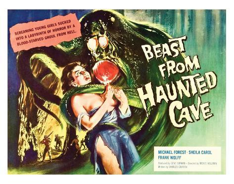 Beast From Haunted Cave - 1960 II Lámina giclée