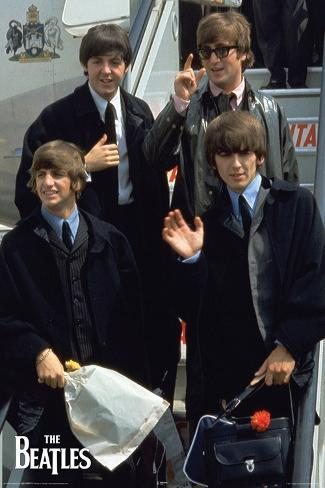 Beatles Plane Poster