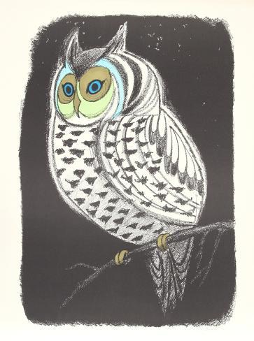 Lummon Owl Samlarprint