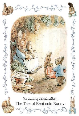 Beatrix Potter Benjamin Bunny Art Print Poster Poster
