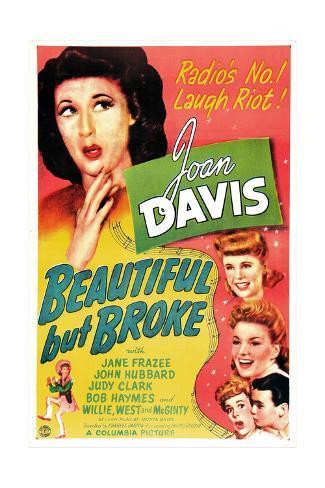 Beautiful But Broke, Joan Davis, Judy Clark, Jane Frazee, 1944 Premium Giclee Print
