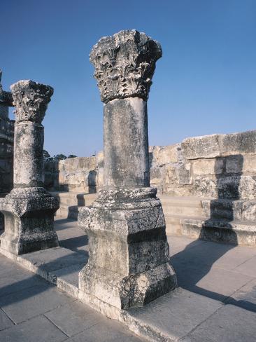 Beautiful Carved Stone Pillars Photographic Print