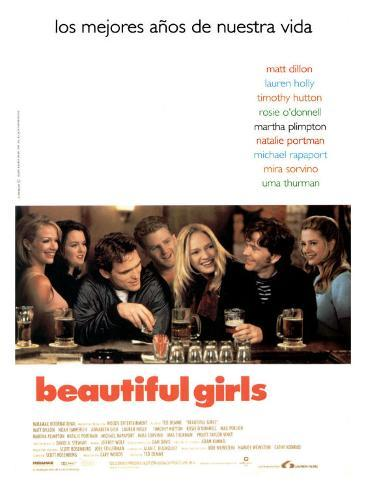 Beautiful Girls, Spanish Movie Poster, 1996 Stretched Canvas Print