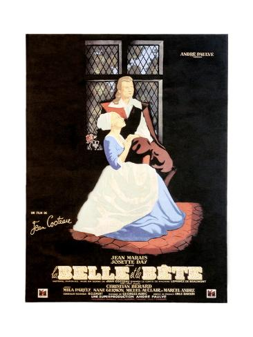 Beauty and the Beast, (aka La Belle et la Bete), 1946 Lámina giclée