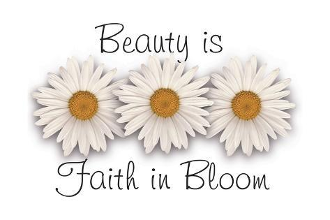 Beauty is faith in bloom Stampa giclée