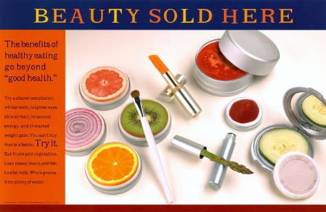 Beauty Sold Here Laminated Poster