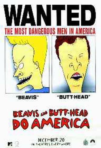 Beavis & Butthead Do America Original Poster