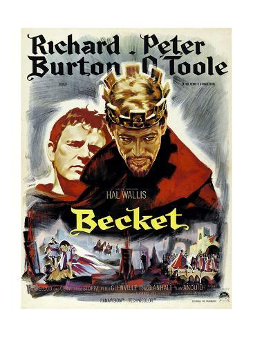 Becket, from Left, Richard Burton, Peter O'Toole, 1964 Giclee Print