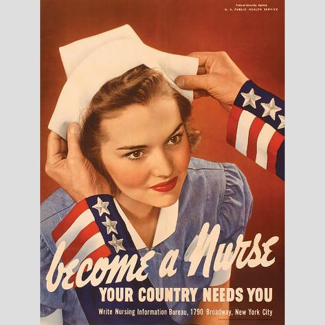 Become a Nurse Your Country Needs You Wall Decal