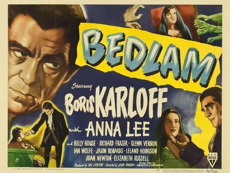 Bedlam, 1946 Art Print