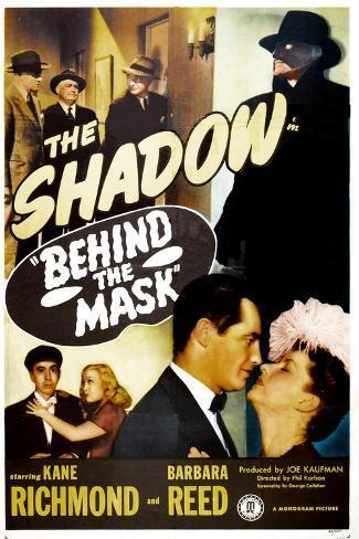 Behind the Mask, (aka The Shadow Behind the Mask ), Kane Richmond, Barbara Reed, 1946 Impressão artística