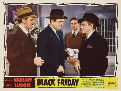 Bela Lugosi, Black Friday, 1940 Lámina giclée
