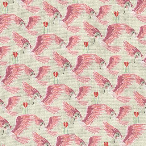 Aves, Espátula Rosada Giclee Print
