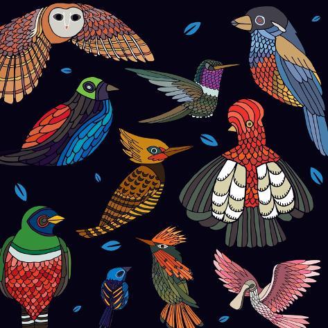Aves, Mix Ecuador Giclee Print