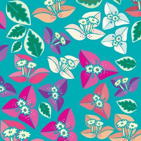 Flowers, Bugambiilla Color Giclee Print