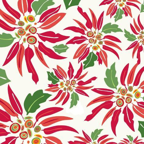 Flowers, Chistmas Star Flower Color Giclee Print