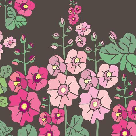 Flowers, Malvarrosa Color Giclee Print
