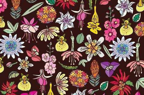 Flowers, Mix Flowers Giclee Print