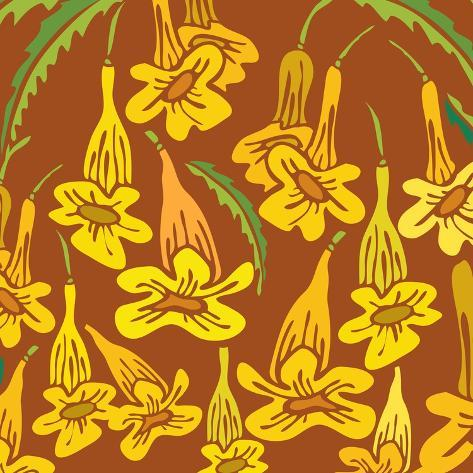 Flowers, Yellow Trumpetbush Color Giclee Print