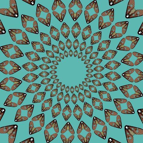 Moths Pachanga, Brown Moth Giclee Print