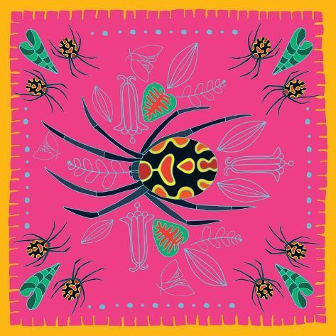 Spider, Pink Crab Spider Giclee Print