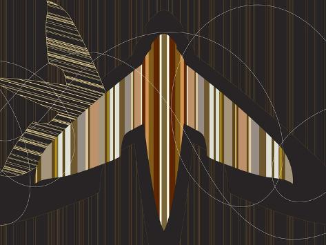 Striped Paper Planes Giclee Print