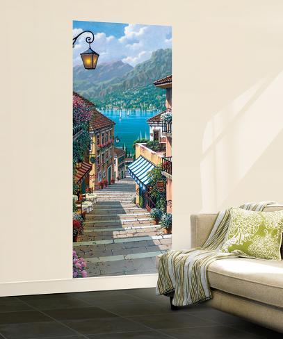 Bellagio Path Huge Wall Mural Poster Print Wallpaper Mural
