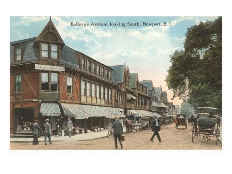 Bellevue Avenue, Newport, Providence, Rhode Island Art Print