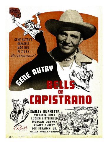 Bells of Capistrano, Gene Autry on Window Card, 1942 Photo