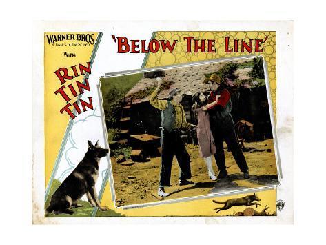 Below The Line, Rin Tin Tin, June Marlowe, 1925 Giclee Print
