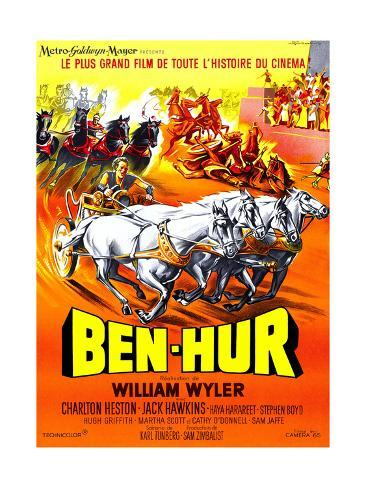 Ben-Hur, Charlton Heston, (French Poster Art), 1959 Giclee Print