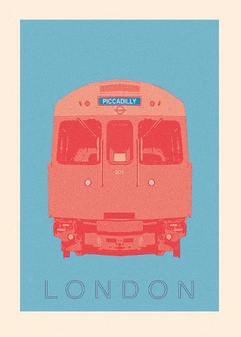 London - Piccadilly Tube Konstprint