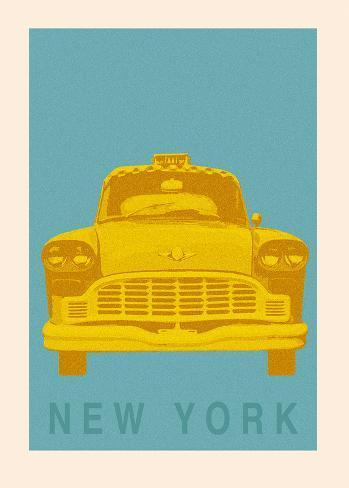 New York - Cab Art Print
