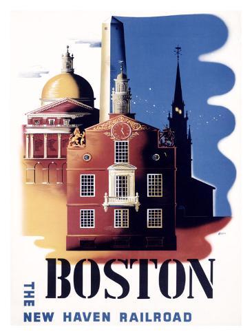 Boston, Massachusetts, New Haven Railroad Giclee Print