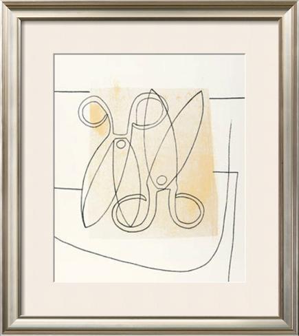 Scissors, c.1968 Impressão artística emoldurada
