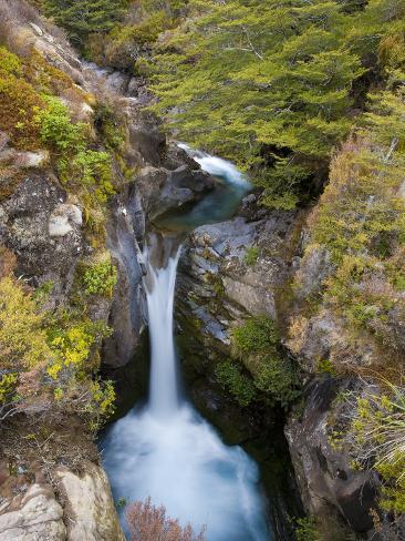 Taranaki Falls, Tongariro National Park, UNESCO World Heritage Site, North Island, New Zealand, Pac Photographic Print