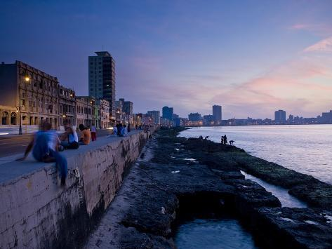 The Malecon, Havana, Cuba, West Indies, Central America Photographic Print