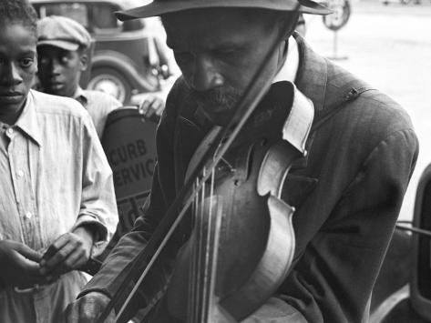 Blind Street Musician, West Memphis, Arkansas, c.1935 Photo