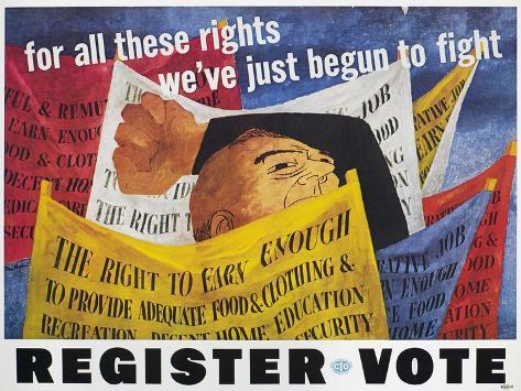 Voter Registration Poster Giclee Print