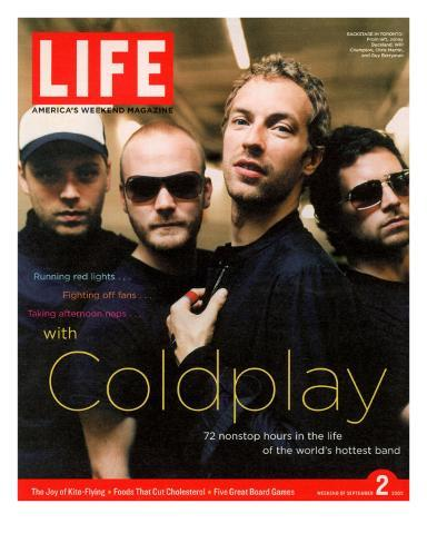Coldplay Backstage, Air Canada Centre, Toronto, September 2, 2005 Premium Photographic Print