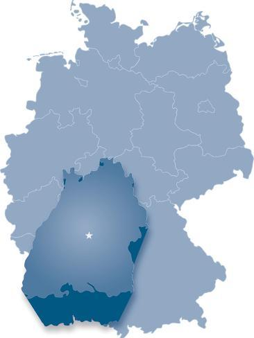 Map Of Germany Where Baden Wurttemberg Is Pulled Out Posters By