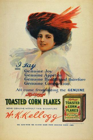Poster for Kelloggs Cornflakes, 1910 Giclee Print