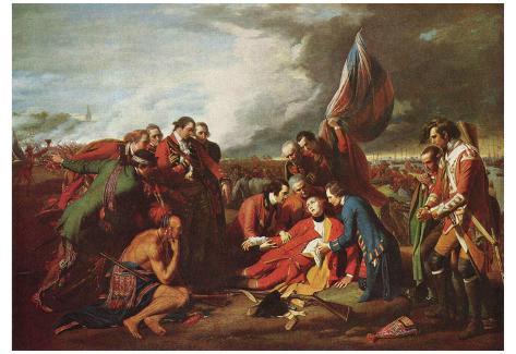 Benjamin West (Death of General Wolfe) Art Poster Print Poster