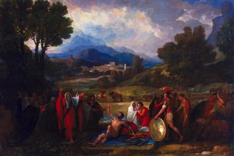Saul before Samuel and the Prophets, 1812 Lámina giclée