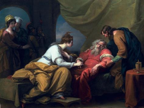 The Meeting of Lear and Cordelia, 1784 Lámina giclée