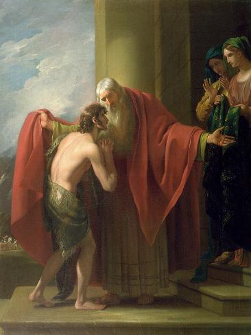 The Return of the Prodigal Son, 1772 Lámina giclée